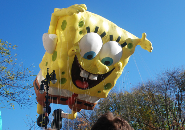 sponge bob Balloon Thanksgiving Day Parade 2011