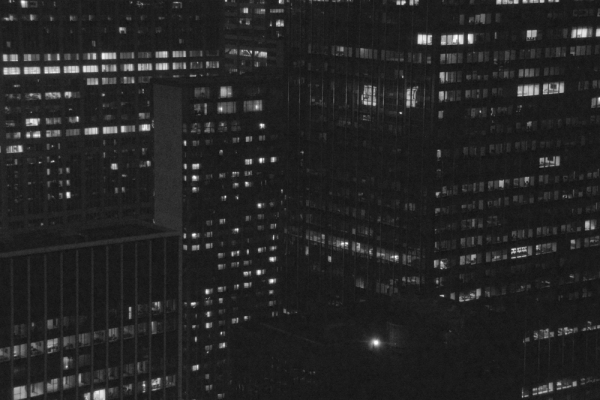 NYC_night_above_midtown_windows_bw_JDP