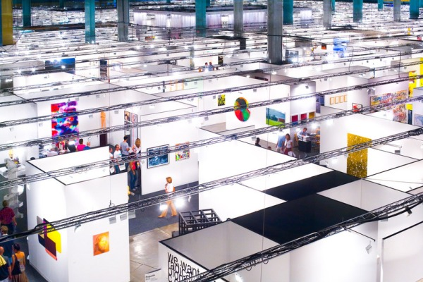 Art Basel Miami Beach main exhibition hall, aerial view